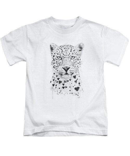 Lovely Leopard Kids T-Shirt by Balazs Solti