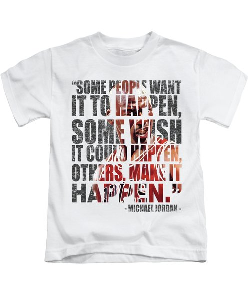 Make It Happen Kids T-Shirt by Iman Cruz