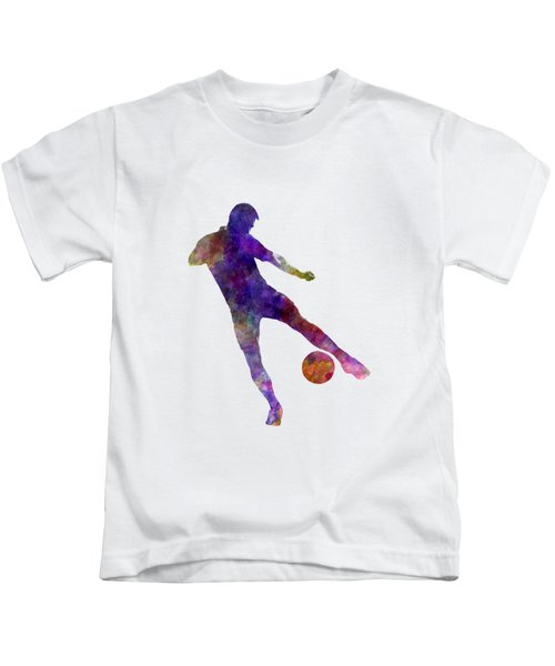 Man Soccer Football Player 02 Kids T-Shirt by Pablo Romero