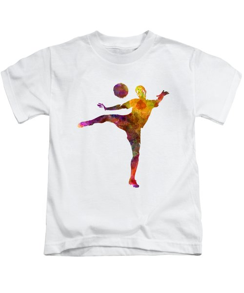 Man Soccer Football Player 07 Kids T-Shirt by Pablo Romero