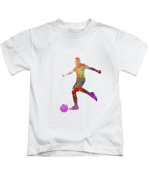 Man Soccer Football Player 16 Kids T-Shirt by Pablo Romero