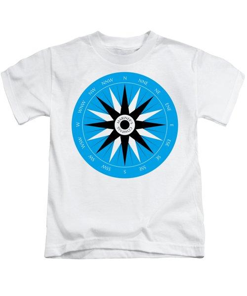 Mariner's Compass Kids T-Shirt by Frank Tschakert