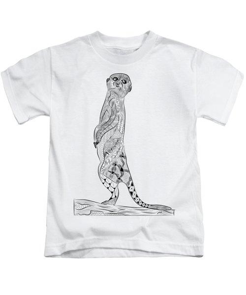 Meerkat Kids T-Shirt by Serkes Panda