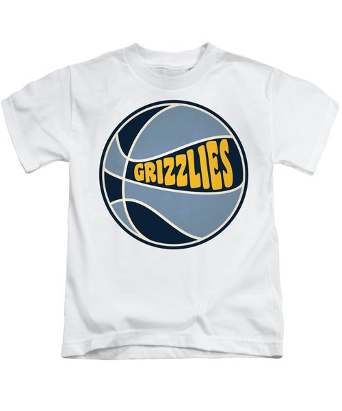 Memphis Grizzlies Retro Shirt Kids T-Shirt by Joe Hamilton