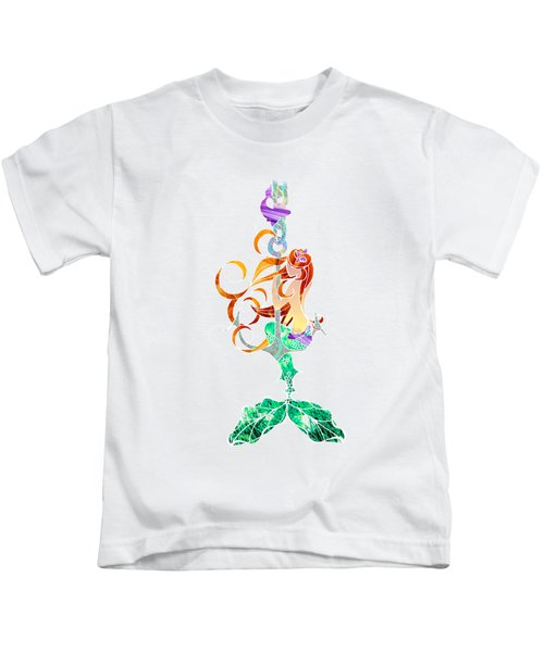 Mermaid Kids T-Shirt by Aubrey Hittle