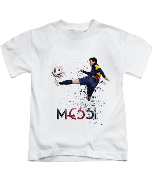 Messi Kids T-Shirt by Armaan Sandhu