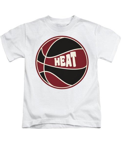 Miami Heat Retro Shirt Kids T-Shirt by Joe Hamilton