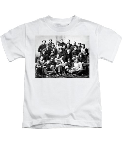 Michigan Wolverines Football Heritage  1895 Kids T-Shirt by Daniel Hagerman