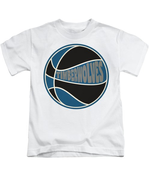 Minnesota Timberwolves Retro Shirt Kids T-Shirt by Joe Hamilton