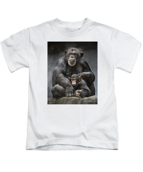 Mom And Baby Kids T-Shirt by Jamie Pham