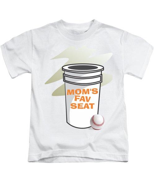 Mom's Favorite Seat Kids T-Shirt by Jerry Watkins