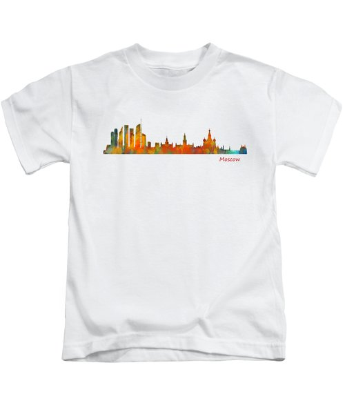 Moscow City Skyline Hq V1 Kids T-Shirt by HQ Photo