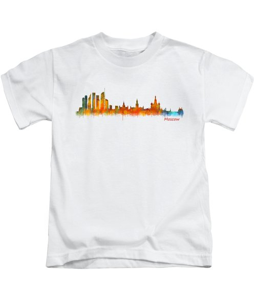 Moscow City Skyline Hq V2 Kids T-Shirt by HQ Photo