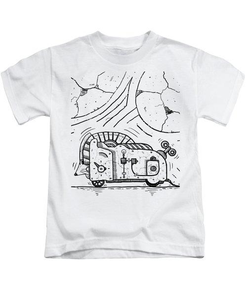 Moto Mouse Kids T-Shirt by Sotuland Art