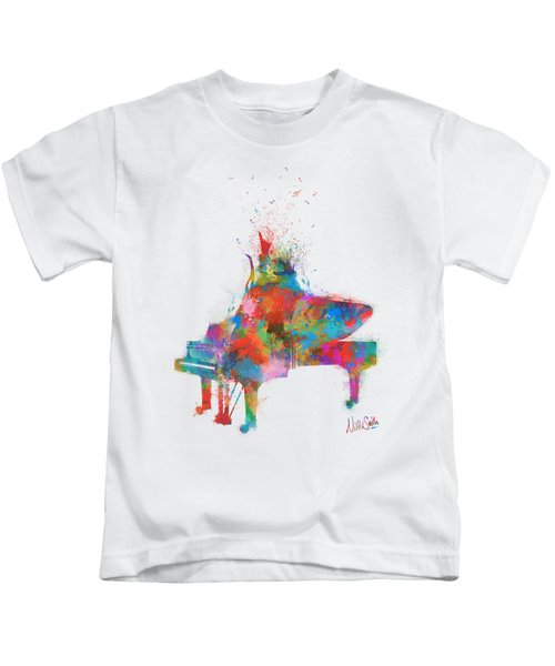 Music Strikes Fire From The Heart Kids T-Shirt by Nikki Marie Smith