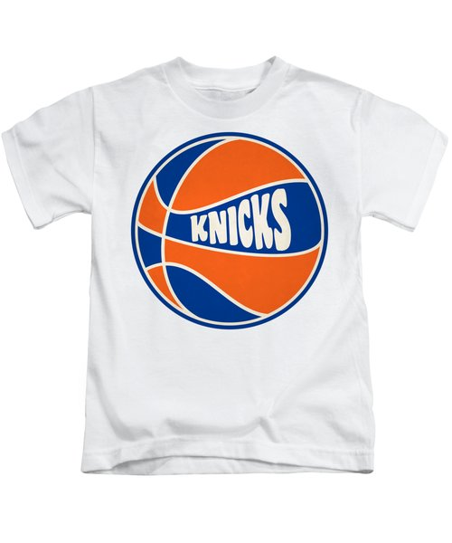 New York Knicks Retro Shirt Kids T-Shirt by Joe Hamilton