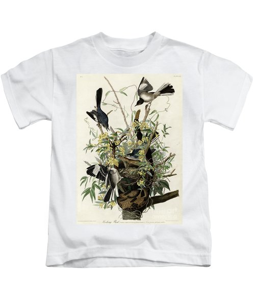 Northern Mockingbird Kids T-Shirt by Granger