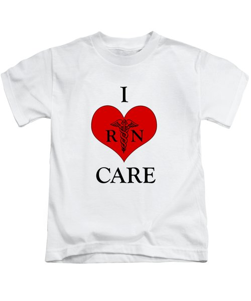 Nursing I Care -  Red Kids T-Shirt by Mark Kiver
