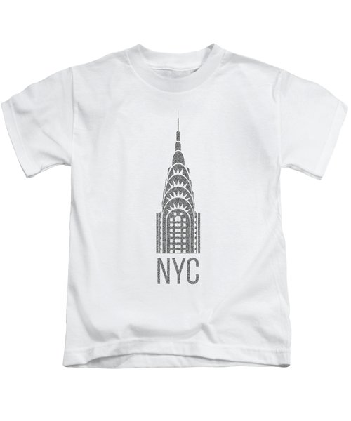 Nyc New York City Graphic Kids T-Shirt by Edward Fielding