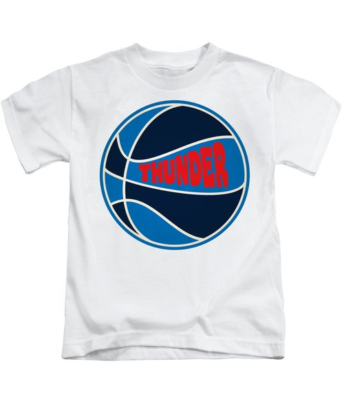 Oklahoma City Thunder Retro Shirt Kids T-Shirt by Joe Hamilton