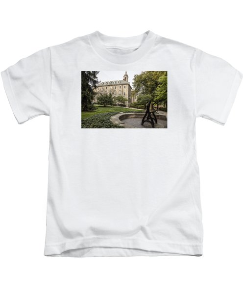 Old Main Penn State Bell  Kids T-Shirt by John McGraw