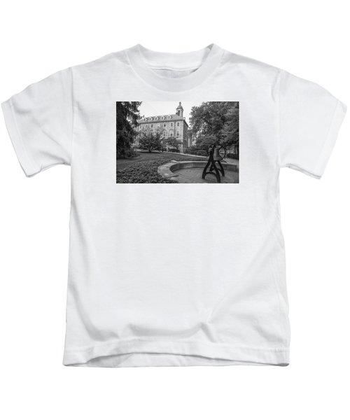 Old Main Penn State University  Kids T-Shirt by John McGraw