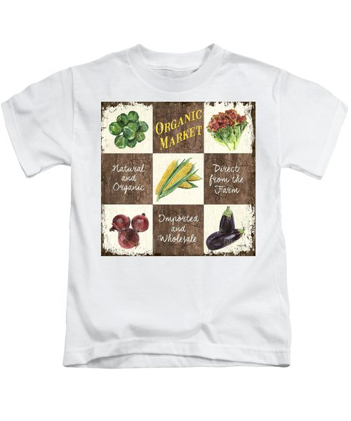 Organic Market Patch Kids T-Shirt by Debbie DeWitt