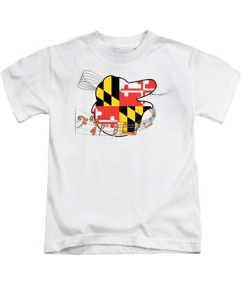 Oriole Sheet Music Design Kids T-Shirt by Justin Canose