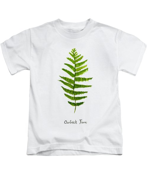Ostrich Fern Kids T-Shirt by Color Color