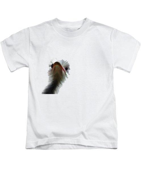 Ostrich Kids T-Shirt by Priscilla Wolfe