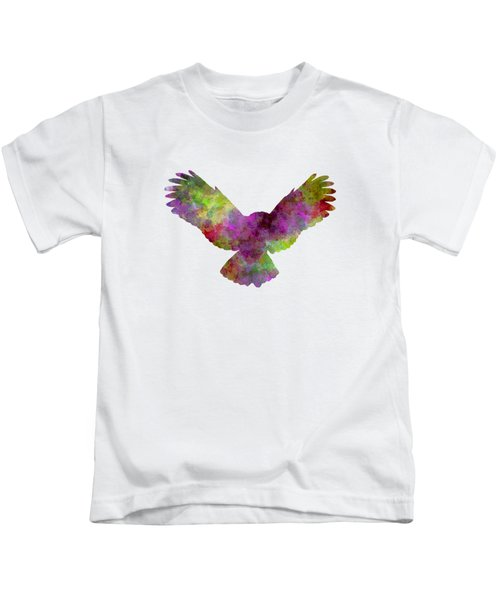 Owl 02 In Watercolor Kids T-Shirt by Pablo Romero