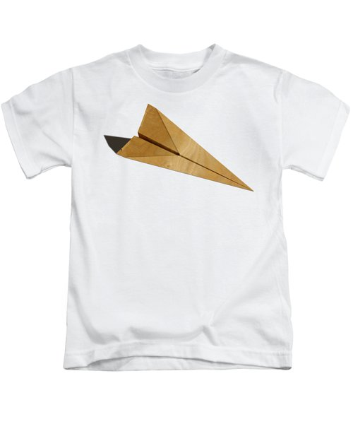 Paper Airplanes Of Wood 15 Kids T-Shirt by YoPedro