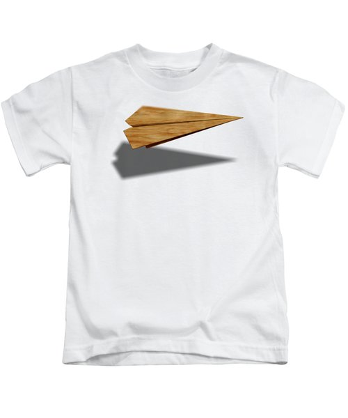 Paper Airplanes Of Wood 9 Kids T-Shirt by YoPedro