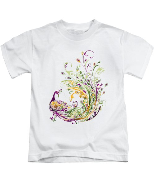 Peacock Kids T-Shirt by Bekare Creative
