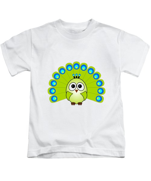 Peacock  - Birds - Art For Kids Kids T-Shirt by Anastasiya Malakhova