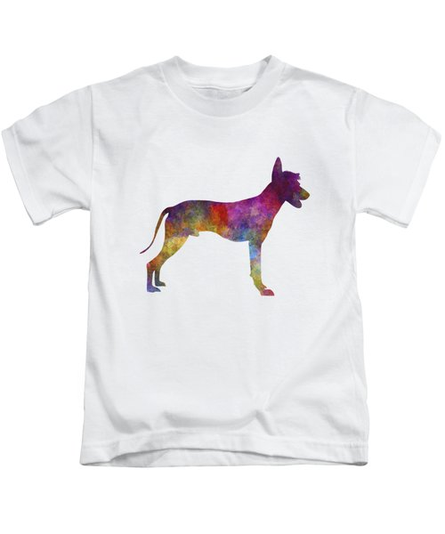 Peruvian Hairless Dog In Watercolor Kids T-Shirt by Pablo Romero