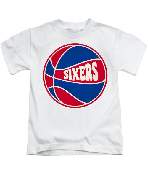 Philadelphia 76ers Retro Shirt Kids T-Shirt by Joe Hamilton