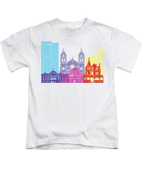 Phoenix Skyline Pop Kids T-Shirt by Pablo Romero