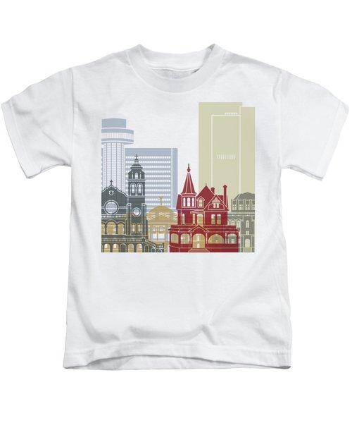 Phoenix Skyline Poster Kids T-Shirt by Pablo Romero