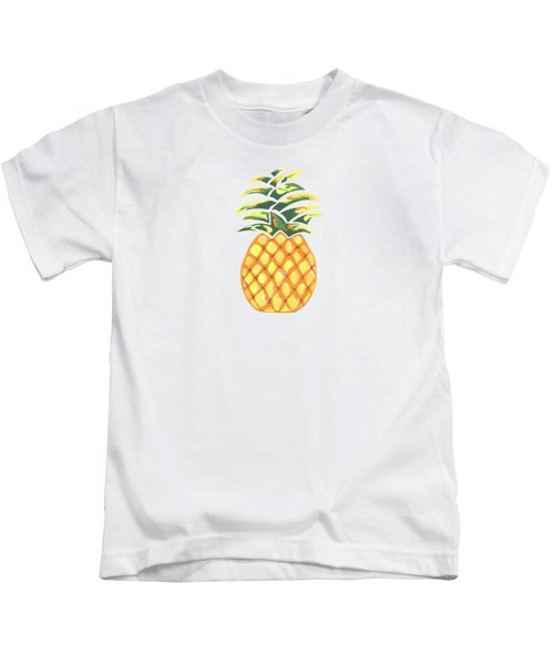 Pineapple Kids T-Shirt by Kathleen Sartoris