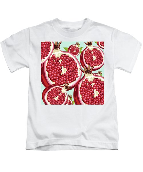 Pomegranate   Kids T-Shirt by Mark Ashkenazi