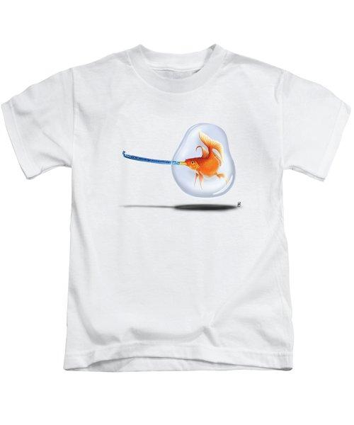 Popper Colour Kids T-Shirt by Rob Snow