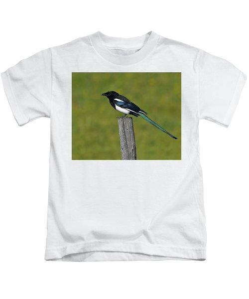 Prairie Perch Kids T-Shirt by Tony Beck