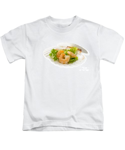 Prawn Appetizer Kids T-Shirt by Amanda Elwell