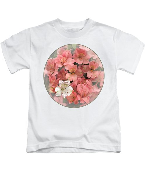 Prima Donna - Alstroemeria Kids T-Shirt by Gill Billington