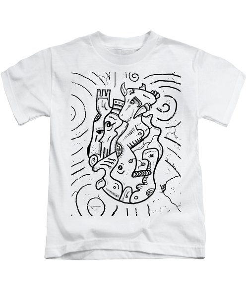 Psychedelic Animals Kids T-Shirt by Sotuland Art
