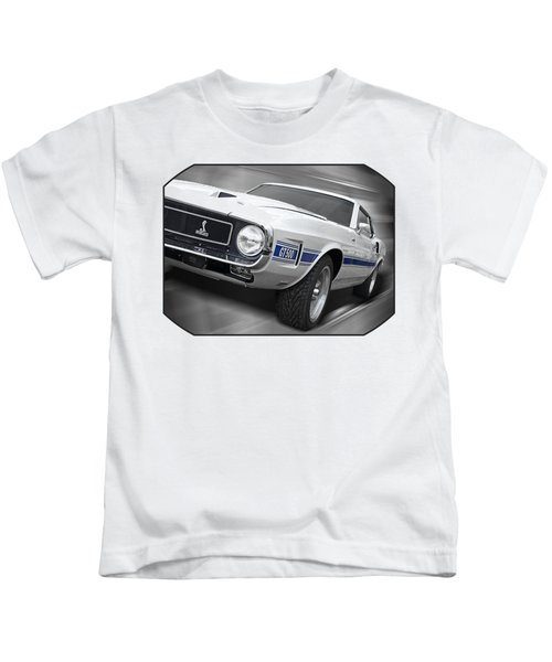 Rain Won't Spoil My Fun - 1969 Shelby Gt500 Mustang Kids T-Shirt by Gill Billington