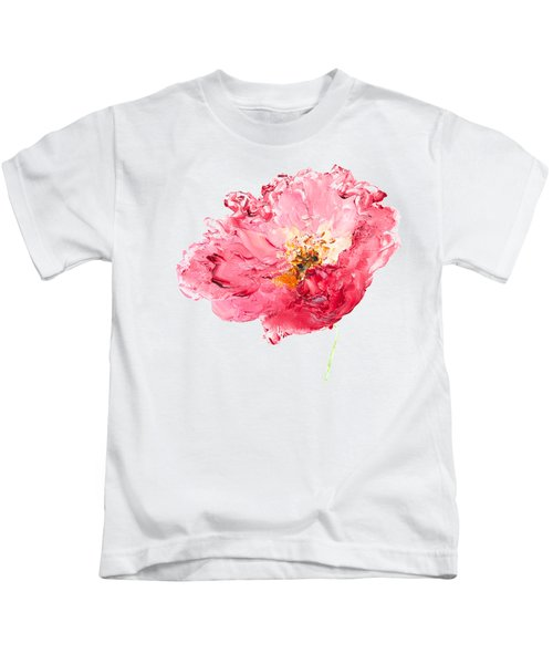 Red Poppy Painting Kids T-Shirt by Jan Matson