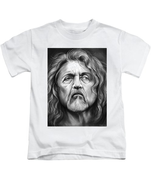 Robert Plant Kids T-Shirt by Greg Joens