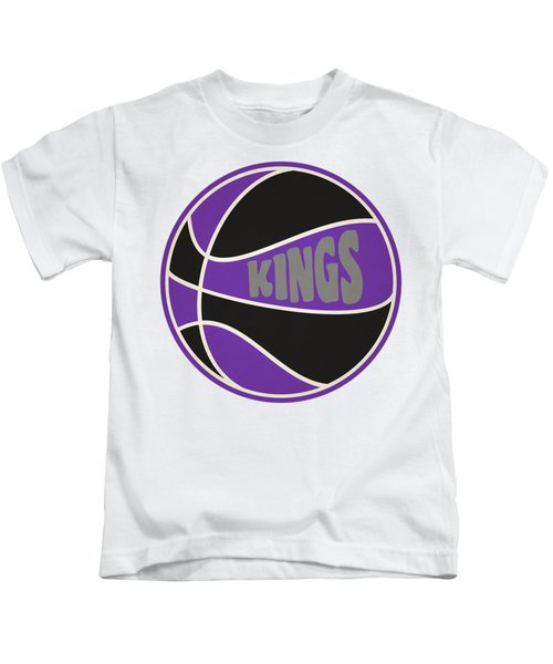 Sacramento Kings Retro Shirt Kids T-Shirt by Joe Hamilton